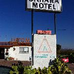 Entrance to the Sahara Motel