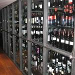 Well appointed wine cellar
