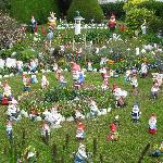 Kay loves gnomes - this is her garden!