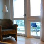Nice glass door and window facing the Atlantic Ocean