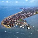 aerial view of Lignano