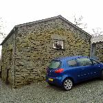 The barn itself; entrance is just round the front of the car between our barn (left) and the sec