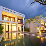 Balian Villas - evening view