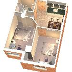  2 Bedroom Suite Layout