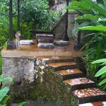  meditation/reading platform in lower garden