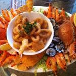 Fabulous hot and cold seafood platter
