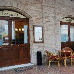 the entrance of Locanda Le Logge