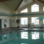indoor pool open 24 hours with hot tub and dry sauna
