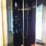  this is the shower/steam shower. it has 3different shower settings. it&#39;s great!