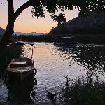 Sunset over Dalyan river