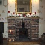  Our fireplace decorated for Christmas