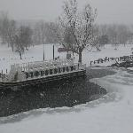 LaSalle Canal Boat docked at Lock 14