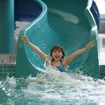 Enjoy our Salt water pool, Slide & Whirlpool