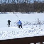  Skiing on Trent Canal