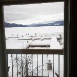 View from our room/bed taken with phone