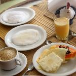  desayuno con tapioca de coco y queso
