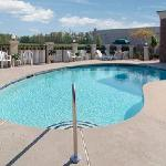 Relax at our outdoor pool and sundeck
