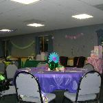 Congressional Room decorated for Babyshower/Family Reunion