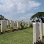 Headstones at Kranji cemetery