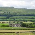  On walk, looking back at Askrigg