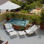 private jaccuzzi- apartment sundeck