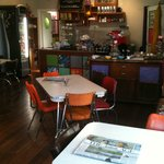 Inside the quirky Cafe