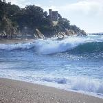 "The beach at Lloret and my new ""wallpaper"""