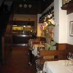 One of two rooms in the restaurant