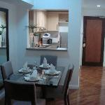 1 Bed unit - Dining/Kitchen area