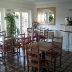 The dining area, light an bright