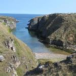 Looking down to Smoo Cave