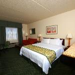 Our Extended King Guest Room includes a microwave, refrigerator, wet bar, sofa beds, & LCD TV's.