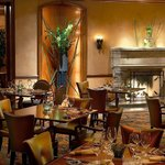 Vivace's fireside dining room