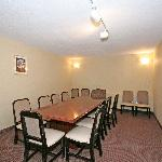 Our conference room can accomodate small meetings. Breakfast area can also be converted for extr