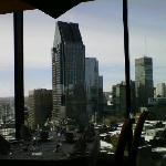 view from the revolving restaurant
