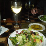 Italian salad and wine!