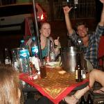 Backpackers Party on Patio