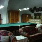  The sitting room with the billiard table