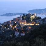 View from the terrace: Eze at nighttime