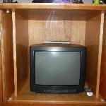 Tiny 12-inch TV in Bedroom in a $600 per night accomodation!!