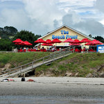  View of the cafe from Onetangi beach