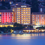 The Riviera hotel by nght from the sea