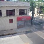 View from my room at the Ramada Plaza--kind of a cool, old-school Midwestern town!