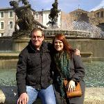  Us at one of the many fountains!