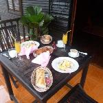 Yummy breakfast on the terrasse