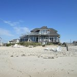 The back of the house from the beach