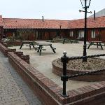 Courtyard with seating.