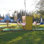 Our 18 hole mini golf course across from Santa's Village