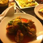 stuffed shrimp and yellowtail snapper