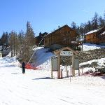 view of rear of chalet from tele-mix base station
